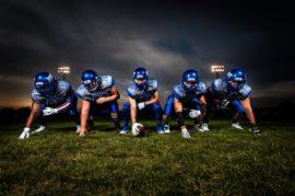 Football offensive line
