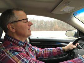 Brian driving